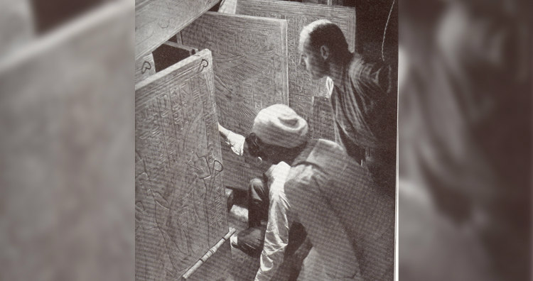 Howard Carter Opening King Tut's Tomb