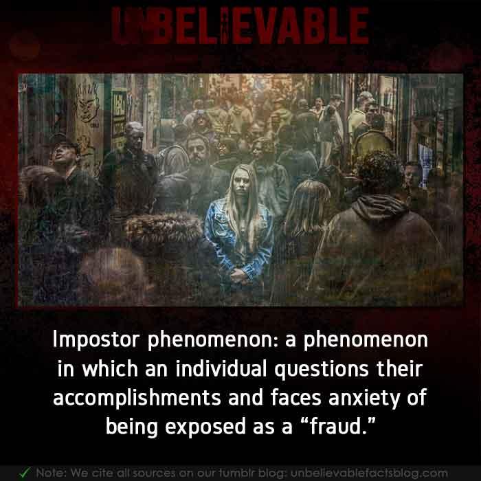 Impostor psychological phenomenon