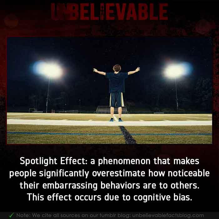 Spotlight Psychology Effect