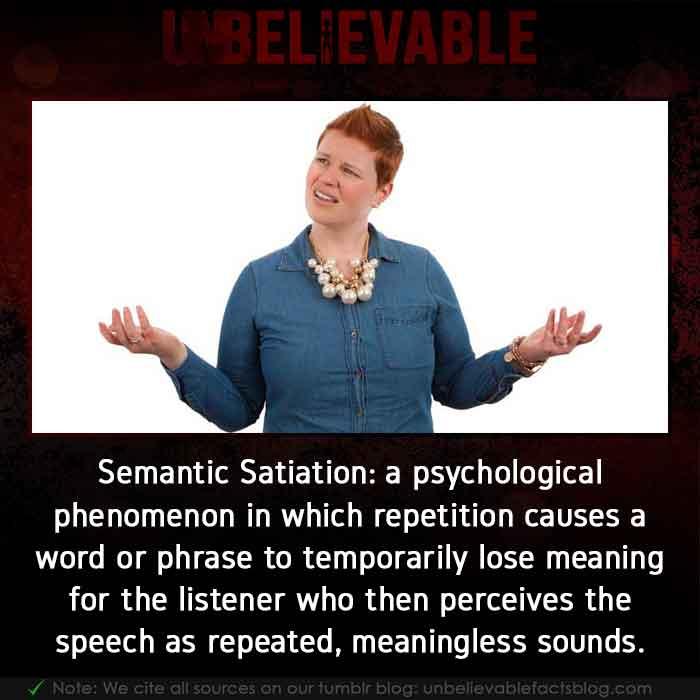 Semantic Satiation Brain Psychology Phenomenon