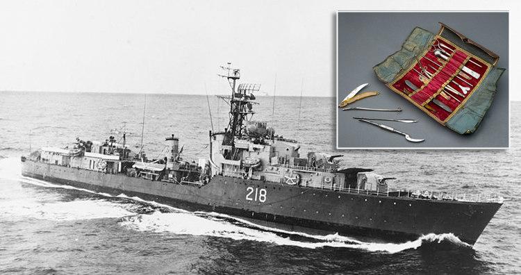 HMCS Cayuga and Pocket Surgical Kit