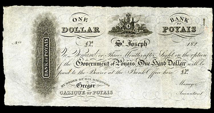 One dollar, Bank of Poyais