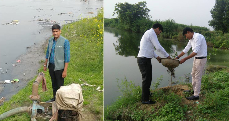 Cleaning the water bodies