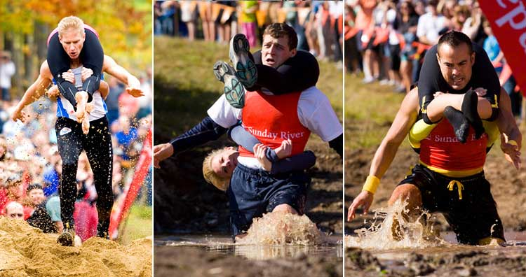Wife-carrying sport