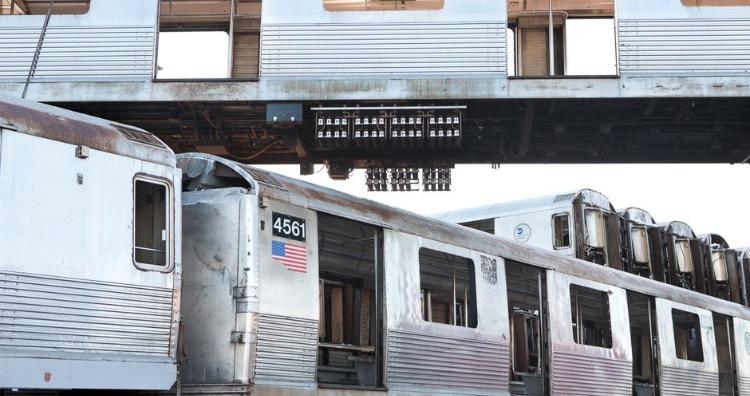 Retired subway cars
