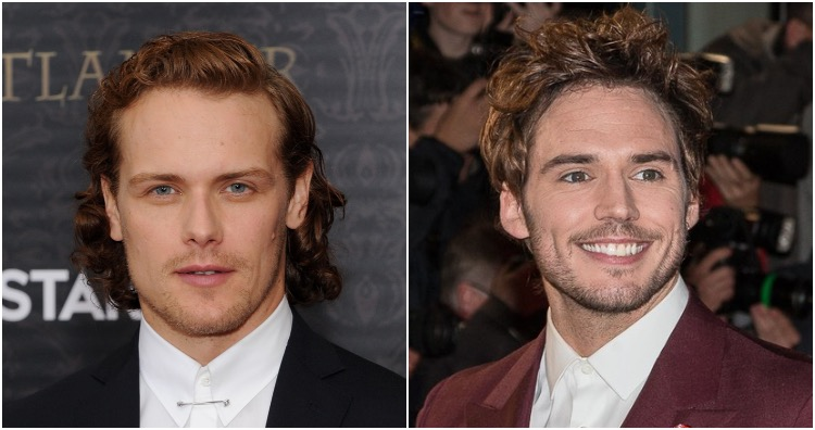 Sam Heughan and Sam Claflin