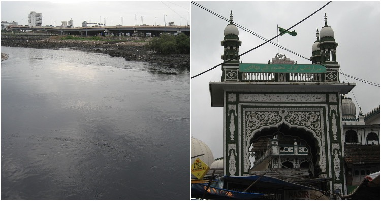 Mahim Creek and the Mahimi Dargah