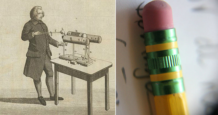 Edward Nairne and a Pencil Rubber or Eraser
