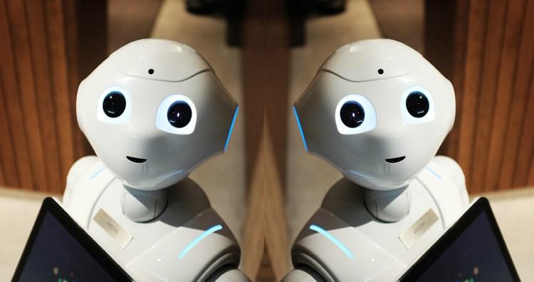 "Semi-Humanoid Robot ""Pepper"" by SoftBank Robotics. (Not Facebook Bots)"