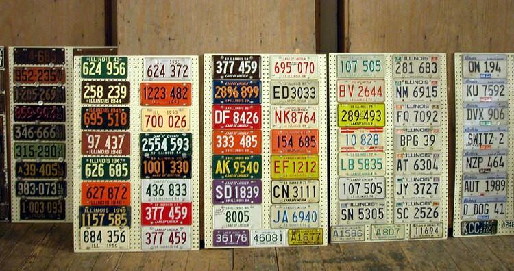 License Plates Display, Vandalia, IL