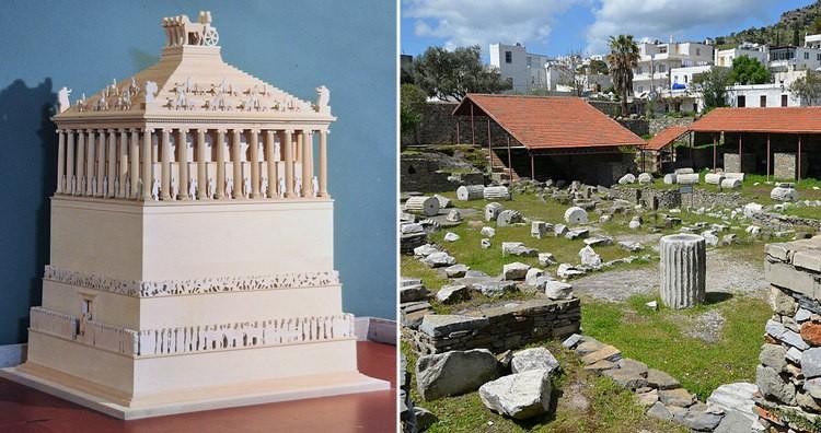 Mausoleum at Halicarnassus (Model and Ruins)