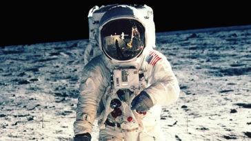Moon landing footage