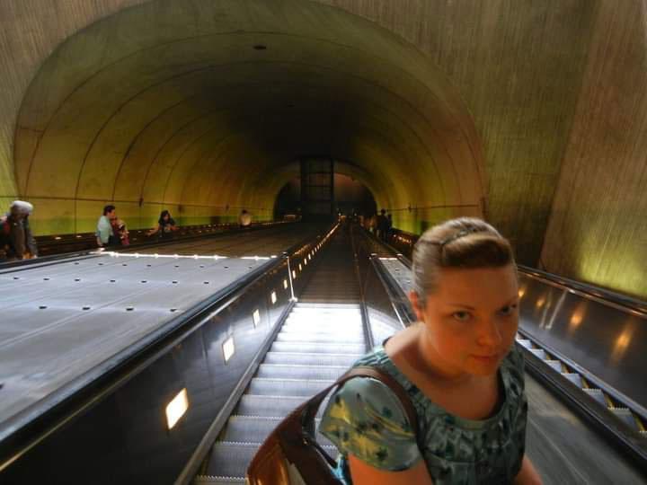 Wheaton Station Escalator.