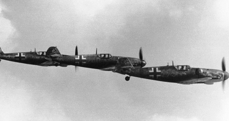 A flight of three