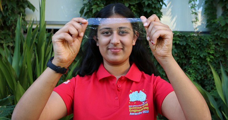 Teen Invents Biodegradable Plastic Made from Prawn Shells