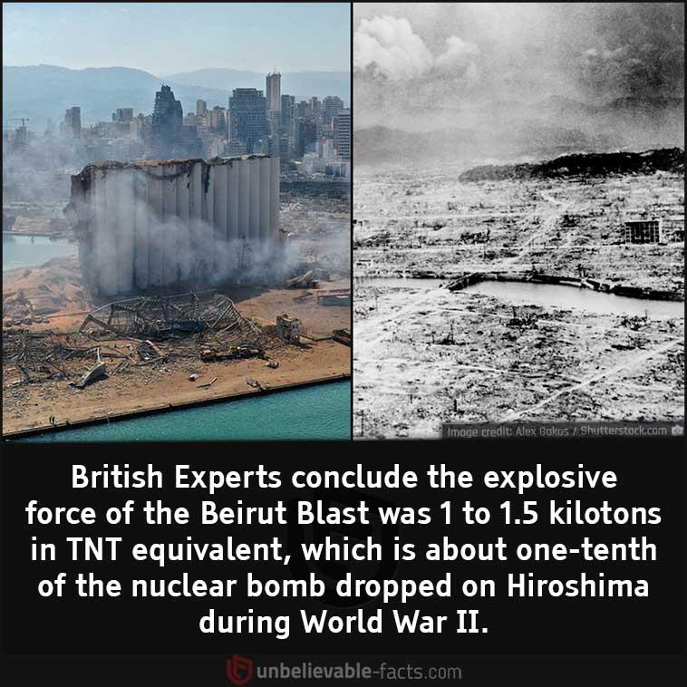 Beirut Blast vs Hiroshima Bomb