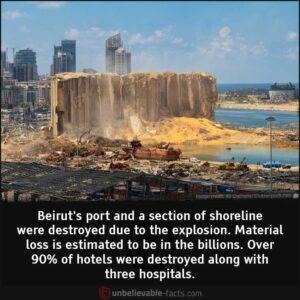 Beirut's port destroyed