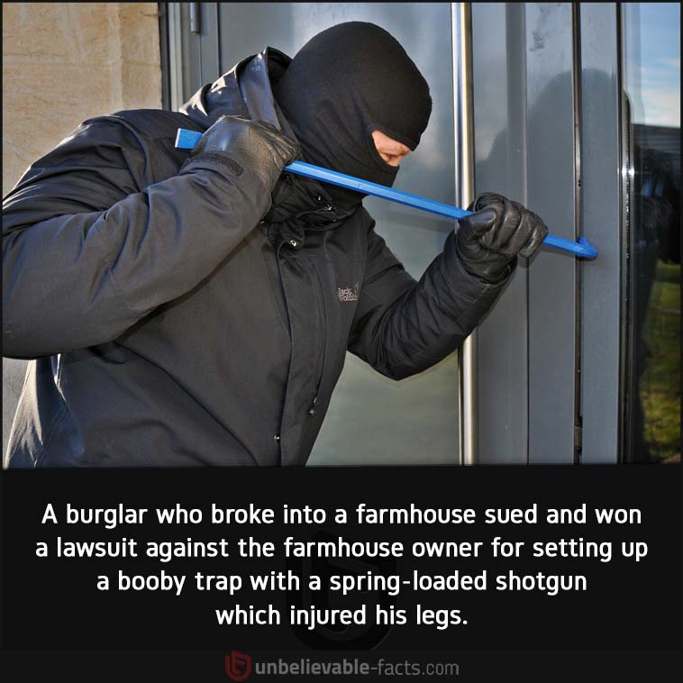 Burglar lawsuit