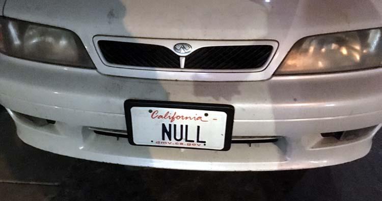 'Null' Weird License