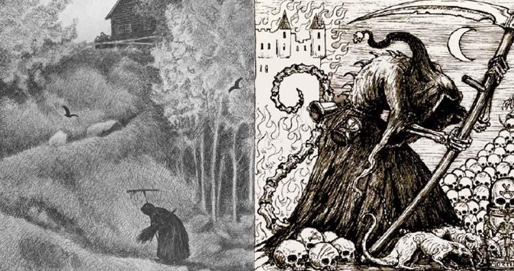 Black Death depiction