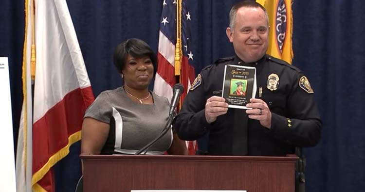 Tiffany Hall and Officer Jim Foster