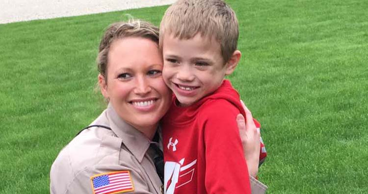 Officer Lindsey Bittorf and Jackson
