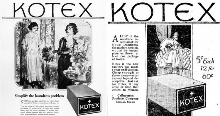 Kotex news paper advertisement