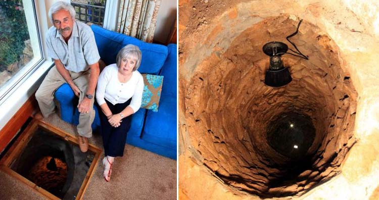 Couple discover 33ft deep medieval well