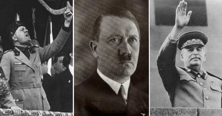 Benito Mussolini, Adolf Hitler , Joseph Stalin