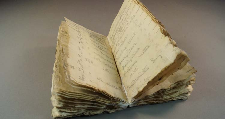 100-year-old notebook