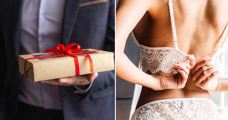groom gifted a bra two sizes small