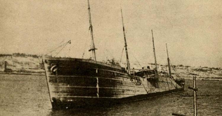 Collision of this vessel, the SS Imo, with the SS Mont Blanc