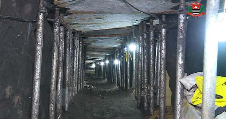 1,640ft long tunnel leading to Bank of Brazil