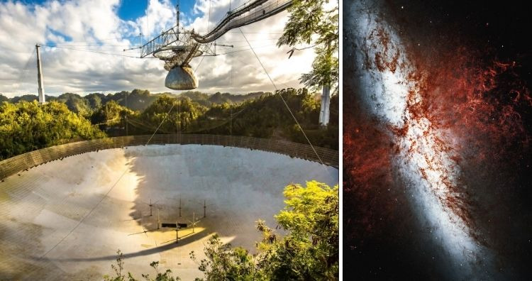 Radio Telescope and Galaxy M82