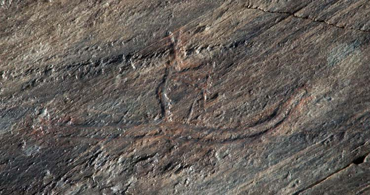 The ancient skier carving