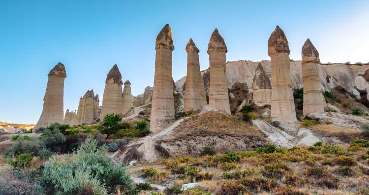 Fairy Chimneys - rock formations in Cappadocia