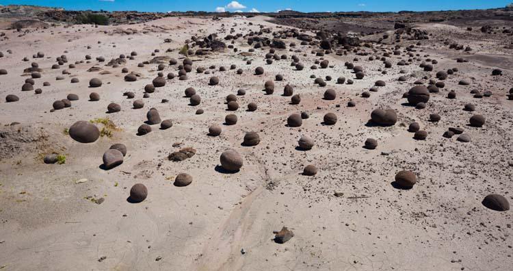 Stone formations in Ischigualasto Provincial Park