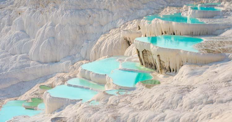 Natural travertine pools in Pamukkale