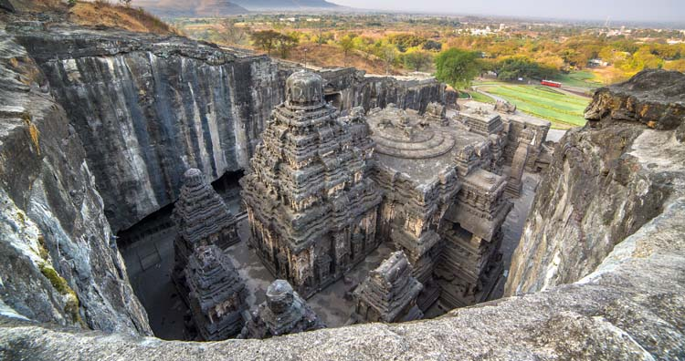 Ancient Structures Carved Out of Rock