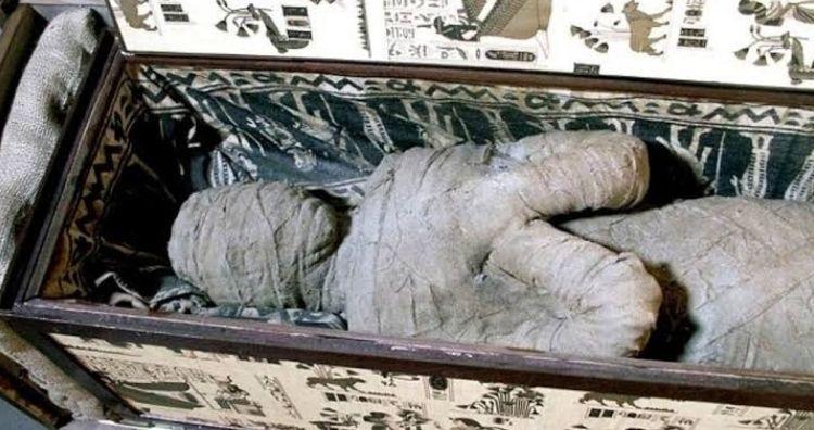Mummy in attic