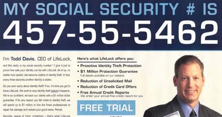 Lifelock advertisement