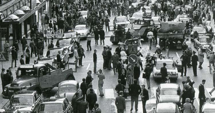 Kungsgatan 3 september 1967